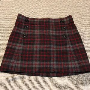 Gap Wool Plaid Skirt